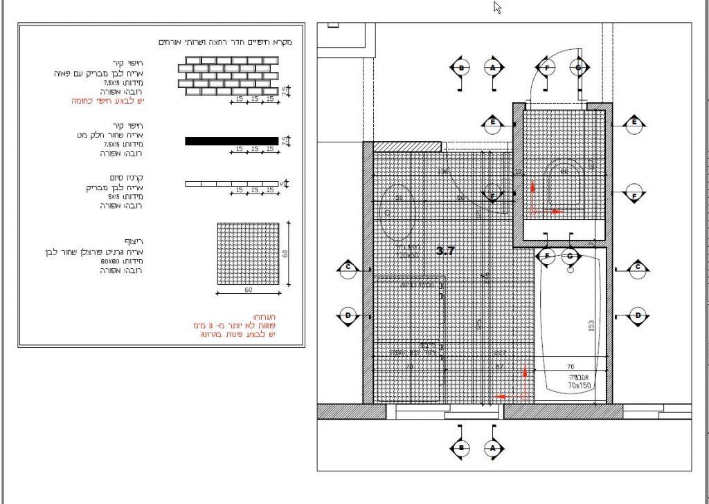 עיצוב חדר רחצה שחור לבן ירוק