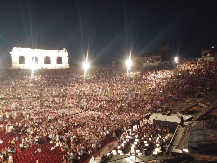 verona, טיול בצפון איטליה, אופרה בארנה של ורונה