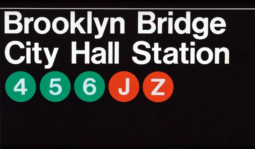 שילוט בתחנת סאבווי בניו יורק. פאולו וינלי