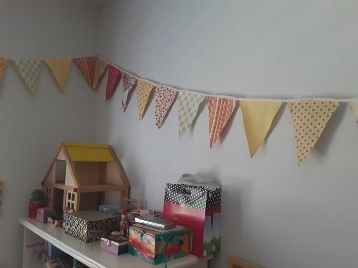 שרשרת דגלונים - קישוט מושלם לחדר ילדים. הבלוג של רונית כפיר