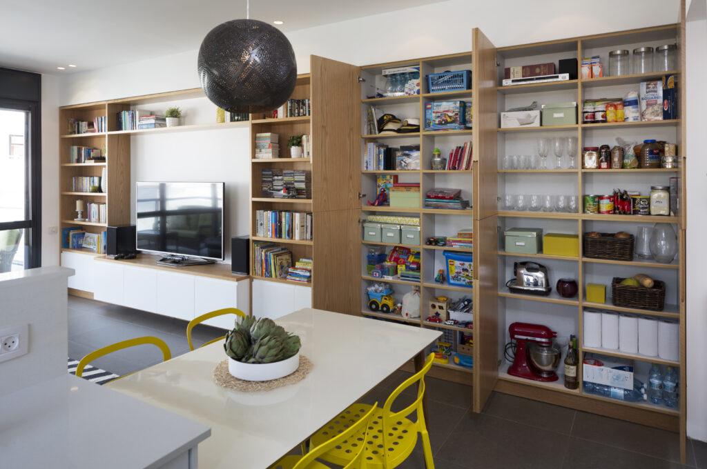 עיצוב דירה בגבעתיים אחסון